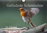 Gefiederte Schoenheiten in Aktion (Wandkalender 2022 DIN A4 quer): Der Fotograf Rolf Poetsch hat dreizehn verschiedene Aufnahmen gefiederter Schoenheiten in Aktion festgehalten. (Monatskalender, 14 Seiten )