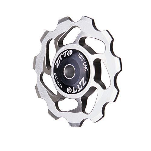 WEEA Polea de Cambio de Rueda Jockey 11T Rueda Guía de Polea de Cambio Trasero de Bicicleta de Aluminio para Bicicleta de Carretera Bicicleta de Montaña Mtb Bmx 4/5 / 6Mm