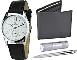 Watch, Flashlight, Pen & Wallet Gift Set