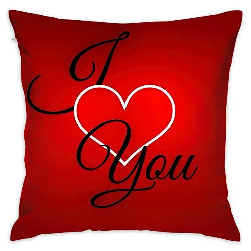 Moily Fayshow Fodera per Cuscino di tiro Love You Divano per Letto Federa per Cuscino Cuscino per Dormire Cuscino Morbido 40 X 40