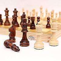 ポータブルチェスセット、磁気チェス、磁気高品質木製折りたたみチェスセット、キッズギフトファミリー大人の子供ゲーム初心者(39x39cm)