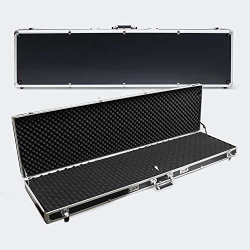 Materiale: plastica antiurto con alluminio Dimensioni: 134,62 x 36 x 11,43 cm Peso: 5 kg 4 serrature di sicurezza con chiave Rivestimento in poliuretano espanso