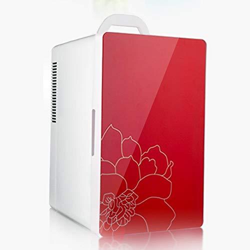JOMSK Termoeléctrico Mini refrigerador del refrigerador y Calentador - 14 alfabetizados for el hogar, Oficina, Coche, Dormitorio Refrigerador Electrico (Color : Red, Size : 25.7 * 32 * 42cm)