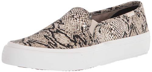 Keds womens Double Decker Animal Pack Sneaker, Cream/Black, 8.5 US