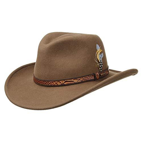 Stetson Chapeau Chalco VitaFelt Chapeaux d´Exterieur Outback (M (56-57 cm) - Marron)