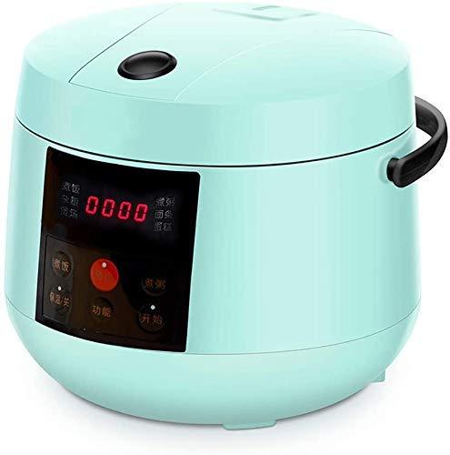 NLRHH Multifunktionale tragbare intelligente elektrische Reiskocher Mini Dampfgarer Joghurt-Maschine Kuchen-Hersteller 24H Termin 2.0L, Rosa, Grün Peng