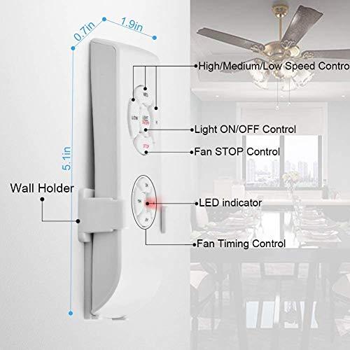 Smart WiFi Fan Switch Ceiling Fan and Light Remote Control Kit, WiFi Fan Controller Compatible with Alexa Google, Pho   ne APP Control, No Hub Required, Universal Ceiling Fan Light Remote Control
