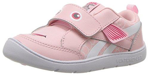 Reebok Baby Ventureflex Chase Ii Sneaker, Fish-Practical Pink/White, 5 M US Toddler
