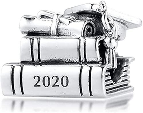 Regalo de la Madre Día 2020 Graduación Book Boad 925 Plata DIY Fits para Pandora Pulseras originales Charm Joyería de moda