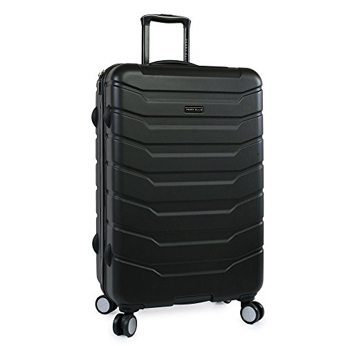 Perry Ellis Traction Hardside Spinner Check in Luggage 29', Black, One Size