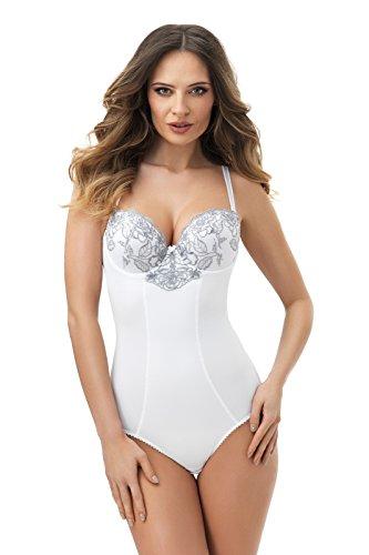 Selente My Secret Body Contenitivo/Snellente/Modellante Donna con Ampie Spalline. Disponibile dalla Coppa B alla H, Bianco Imbottito, 2C