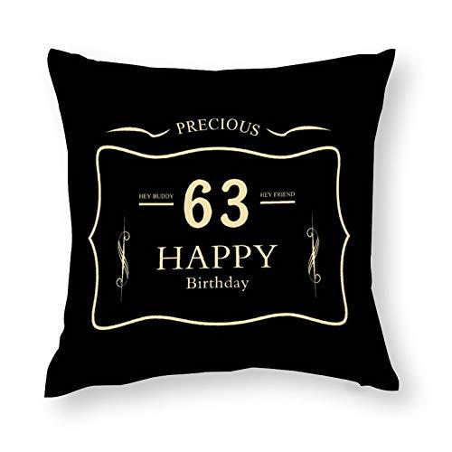Funda de cojín suave y cómoda para silla de 63 cumpleaños, Hey Buddy para coche, decoración interior del hogar, 64 x 24 pulgadas
