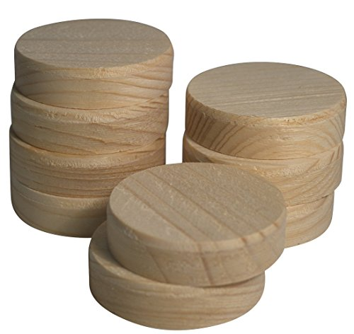 30 Stk JOWE Querholzplättchen aus Fichte   Querholzscheiben Ø50mm   Holzplättchen mit Fase