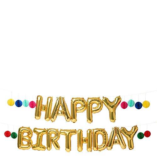 Guirlande de ballons Happy Birthday - Meri Meri