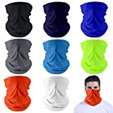 Dapaser 8 Pack Reusable Cooling Neck Gaiter Face Cover Balaclava UV Protection Breathable ...