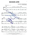JASON DERULO SIGNED AUTOGRAPH 'SAVAGE LOVE' SHEET MUSIC - TIK TOK STAR, FUTURE HISTORY, TATTOOS, EVERYTHING IS 4, WANT TO WANT ME, WIGGLE, TRUMPETS, TALK DIRTY, IN MY HEAD, WHATCHA SAY, STUD SINGER, VERY RARE