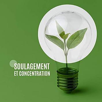 Soulagement et concentration. Sommeil profond et méditation