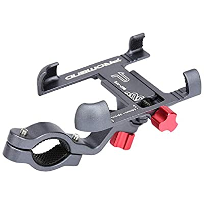Bicycle & Motorcycle Universal Phone Mount,Aluminum Alloy Bike Phone Holder with 45° Tilt and 360° Rotation Full Angel Adjustment Fits for Most of Smartphones