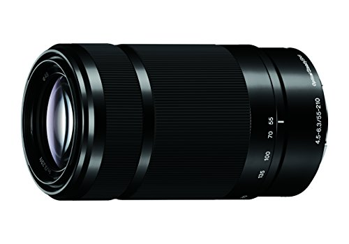 Sony E 55-210mm F4.5-6.3 Lens for Sony E-Mount Cameras - Black (Renewed)