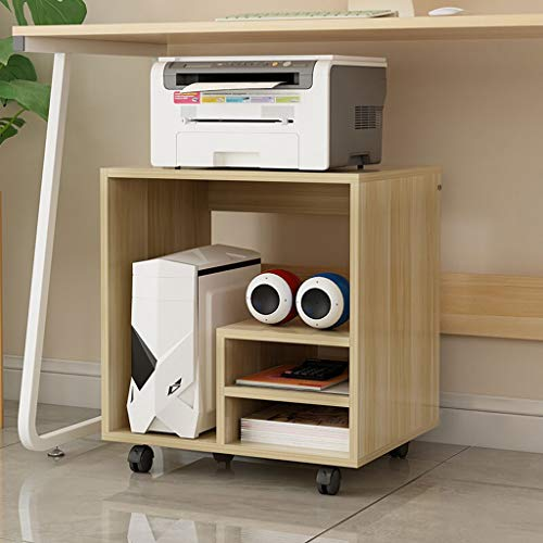 Escáner Estante Almohadillas Oficina Impresora láser multifunción Copiadora Escáner estante del estante del soporte multifuncional de almacenamiento en rack debajo de la tabla de la CPU Caja de lamina