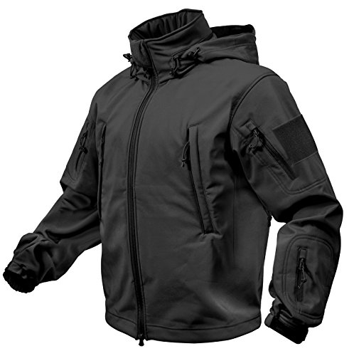 Rothco Special Ops Softshell Jacket, Black, Large