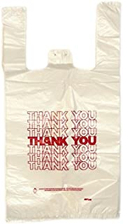 Plastic Carry Out Thank You Bags - 12