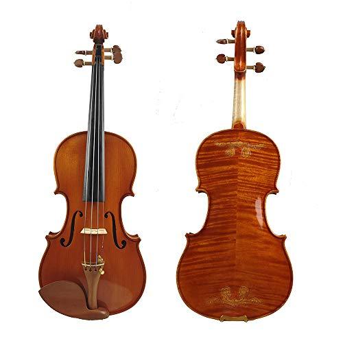 LOIKHGV 1715100% HandgemachteSchnitzblume FPVN05 ViolineCarbon Fiber BowFoam Case, rot