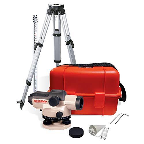 David White AL8-32 32-Power Automatic Optical Level Kit