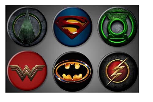 DC Comics Magnets Superheroes Batman Superman Green Lantern Green Arrow Wonder Woman Flash Fridge magnets 1.75' inch lockers