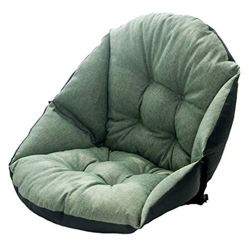 TRTT Cojines para sillas Cojín para Asiento de Escritorio Cojín cálido y cómodo para Apoyo en la Cintura Cojín de Invierno para Silla de Oficina en casa Asiento de Coche (Verde)