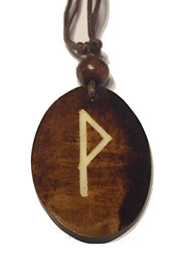 Wunjo Rune - Kettenanhänger aus Knochen (braun) | TYR, TEIWAZ, Runen, Runenschmuck