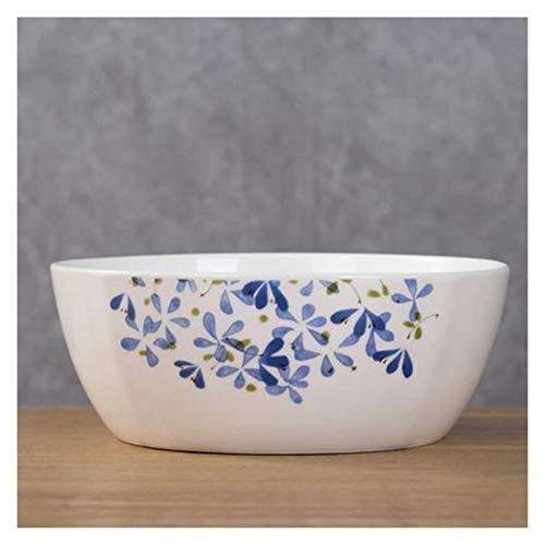 XUEXIU Soup Bowl Ceramica Creativo casa faccione zuppiera Bacino per Perfetto Pranzo e casa (Color : 7 Inches)