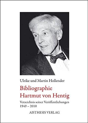 Bibliographie Hartmut von Hentig