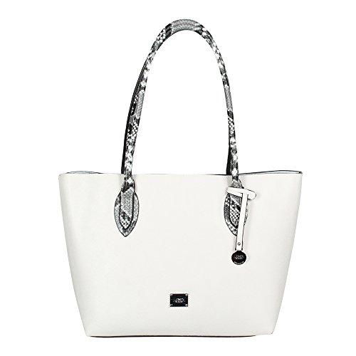 L. CREDI Damen Handtasche Amber weiss