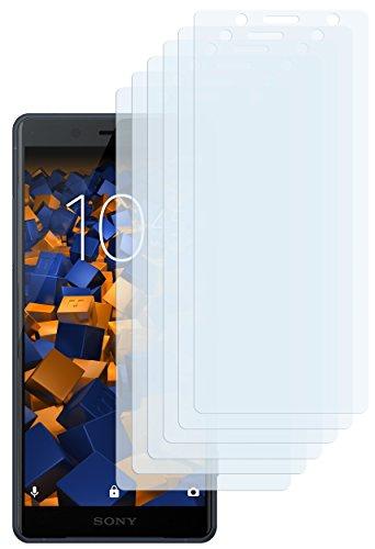 mumbi Schutzfolie kompatibel mit Sony Xperia XZ2 Compact Folie klar, Bildschirmschutzfolie (6X)