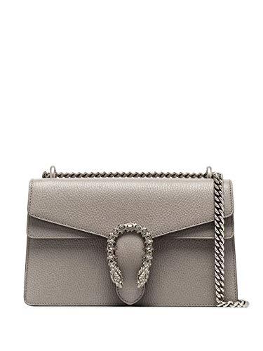 Luxury Fashion | Gucci Dames 400249CAOGN1293 Grijs Leer Schoudertassen | Seizoen Permanent