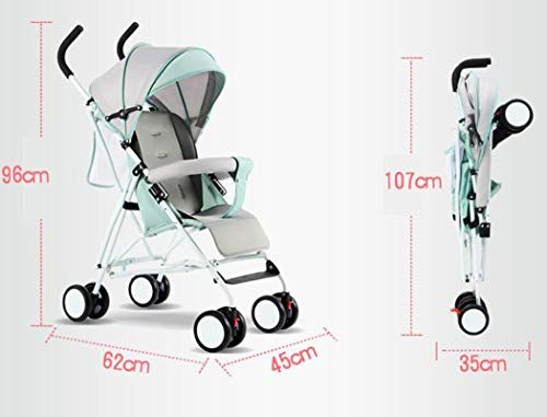 RAPLANC Umbrella Baby Stroller, Lightweight Compact, Stroller All Terrain Convenience Carriage Stroller, Travel Tall Pram for Toddler Big Kids Single Stroller,Red RAPLANC Convenient for children: ✔️Full-size large seat, multi-position reclining padded seat back, making the child comfortable and soft; longer awning with pop-up sun visor can better block glare and dust; durable High-quality fabrics and delicate hand-stitching make the stroller more comfortable. Convenient for parents: ✔️Storage basket for shopping/storing diapers; extra pockets can hold key mobile wallets; compact stroller frame can be easily folded in the trunk for convenient travel. Pushes smoothly in all terrains; automatically locks when folded; lightweight and easy for women to carry. Lighting function: ✔️Compared with other umbrella carts, it is equipped with baby handrails. Toddler's arms can rest comfortably on it. The armrest can be easily opened from the middle. The awning can be removed separately for cleaning. 4
