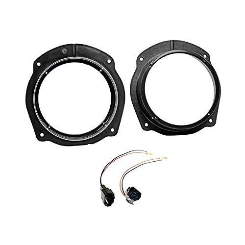 Sound-Way Kit Montaje Adaptadores Altavoces Compatible con Fiat Stilo, Bravo, Croma/Lancia Delta