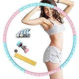 Hula Smart Hoop - Pneumatico per fitness, Exercise Hoop per ridurre il peso regolabile, 6 segmenti, con anima in acciaio inox stabile per il fitness/addominale