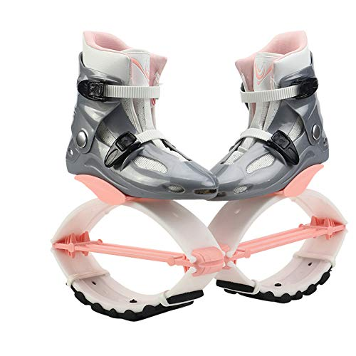 Bounce Jumping Shoes, Adjustable Non-Slip Bouncy Boots, Anti-Gravity Running Boots with Removable Liner, Variable TPE Spring Design Apply to Fitness Workout, Extreme Sport, Street Dance(Max 242 lbs)