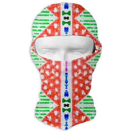 Máscara solar unisex Máscara de cara completa Capucha, bordado geométrico Patrón sin costuras étnico…