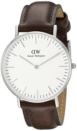 Daniel Wellington Classic Herren-Armbanduhr Analog Quarz Leder - DW00100023