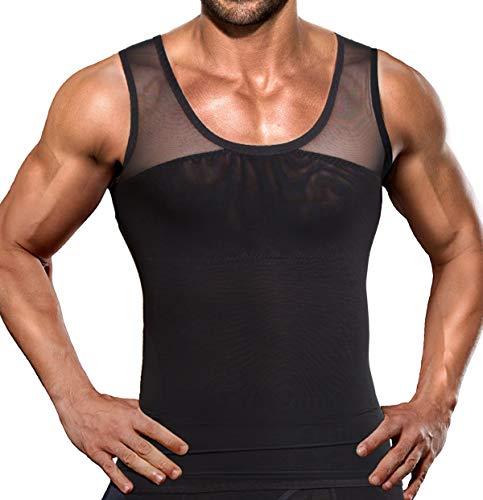 Hombres adelgazantes Body Shaper Chaleco Camisa compresión pecho Abdomen Slim Tank Top Camiseta