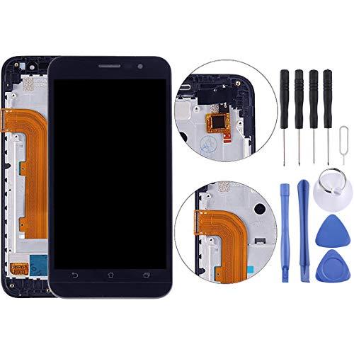Zhangl Pantalla LCD del teléfono móvil para ASUS Zenfone Go ZB500KL X00AD Pantalla LCD de 5.0 Pulgadas Ensamblaje de Pantalla táctil digitalizador con Marco Pantalla LCD (Color : Black)