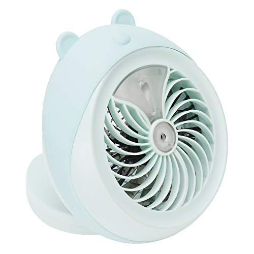 Gerioie Mini Ventilador de pulverización, Mini Ventilador de nebulización portátil de Alta Velocidad de 3,5 W con batería de 6,7 x 6,9 x 2,7 Pulgadas, para Viajes al(Blue Bear)