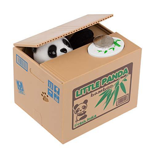 LIUKLAI Cajas de Dinero de ladrón de Gato Panda, Hucha de Juguete, Regalo, Cajas de Dinero automáticas para niños, Hucha, Hucha, Hucha