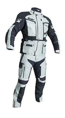 WinNet Completo tuta moto in cordura giacca e pantaloni per turismo (S)