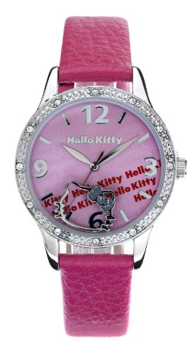 Hello Kitty Collection HK7126LS/07 - Reloj de Mujer de Cuarzo, Correa de Metal Color Rosa