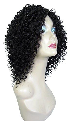 chear Eau Vague Trame Extension de cheveux humains avec de mélange tissage, numéro 1b, noir, 35,6 cm