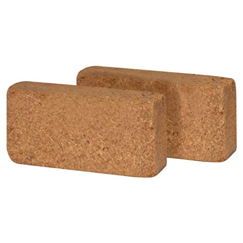Ksodgun Bloques de Fibra de Coco 40 Piezas de Ladrillos de Humus, Tierra de siembra, Tierra para macetas para Habitaciones, balcón 650 g, 20 x 10 x 4 cm